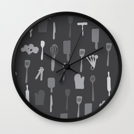 In The Kitchen — Grey Wall Clock