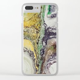 The rivers, acrylic on canvas Clear iPhone Case