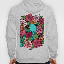 Bluebird and Roses Hoody
