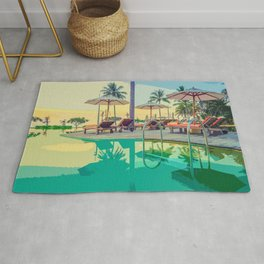 Summer By The Pool Rug