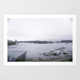 Harbour views Vancouver Art Print