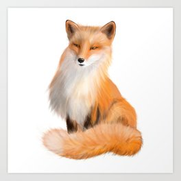 Cute Red Fox with Sly Eyes Art Print