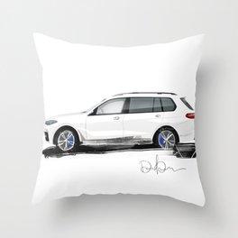 Bavarian sketch Throw Pillow