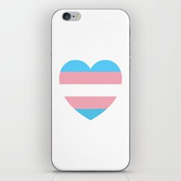 Trans Pride Heart iPhone Skin