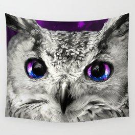 Galaxy Owl Eyes Wall Tapestry