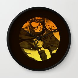Orange NTS Wall Clock