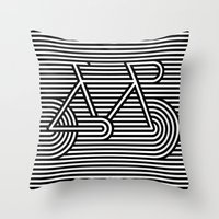 bicycle Throw Pillows featuring Bicycle by AndISky