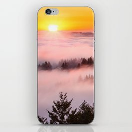 Bolinas Ridge Foggy Sunset iPhone Skin