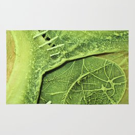Lime Green . Art of Nature Rug