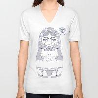 blueprint V-neck T-shirts featuring x blueprint subtle by Rozenblyum Couture
