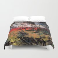 fear and loathing Duvet Covers featuring FEAR by sametsevincer
