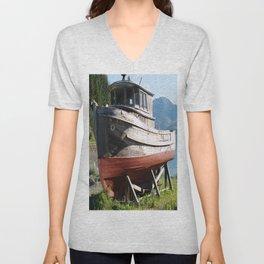 Beached Boat Unisex V-Neck