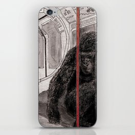 Gorilla on the Tube iPhone Skin