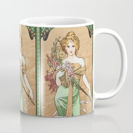 "Alphonse Mucha ""The Seasons (series): Spring"" (1900) Coffee Mug"