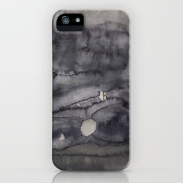 Abstract watercolor #11 - Dark dreams - Abstract watercolour painting iPhone Case