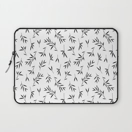 Black and white bamboo leaves Laptop Sleeve