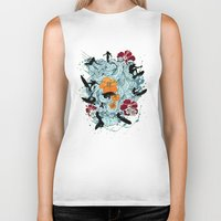 waves Biker Tanks featuring Waves by Ewan Arnolda
