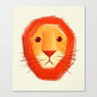 lion Canvas Prints featuring Sad lion by Lime