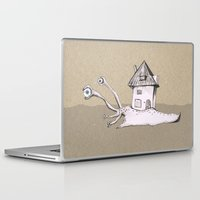 snail Laptop & iPad Skins featuring Snail by Bwiselizzy