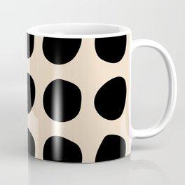 Irregular Polka Dots black and cream Coffee Mug
