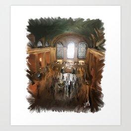 Grand Central Terminal in Digital Oils Art Print