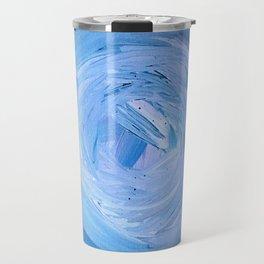 Blue Swirl Acrylic Painting Travel Mug