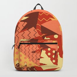 Patterned Autumn Leaves (Modern Retro Bold Colors) Backpack
