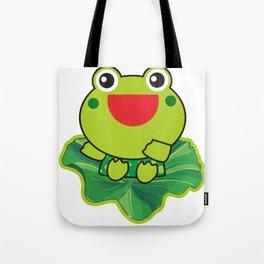 cute happy kero kerompa frog frogy Tote Bag