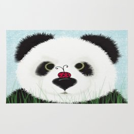 The Panda Bear And His Visitor Rug