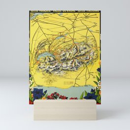 Nostalgia la suisse romande suisse francaise vallee du rhone suisse italienne pro lemano cff sbb Mini Art Print