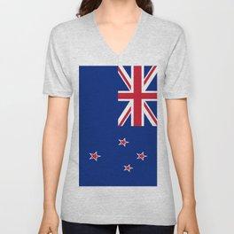 The Flag of New Zealand Unisex V-Neck