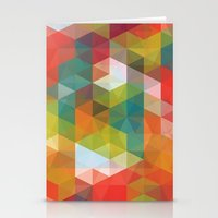 transparent Stationery Cards featuring Transparent Cubism by All Is One