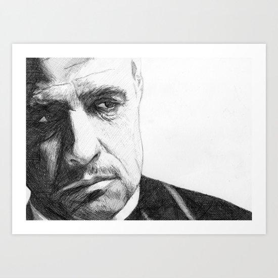 Don Vito Corleone Art Print