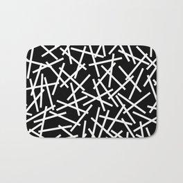 Kerplunk Black and White Bath Mat