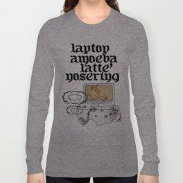 laptop amoeba latte' nosering Long Sleeve T-shirt