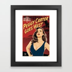 Peggy Carter Goes West Framed Art Print