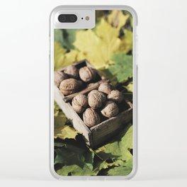 Fall still life italian walnut fruit Clear iPhone Case