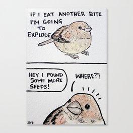 Bird no. 52: Me; also me Canvas Print