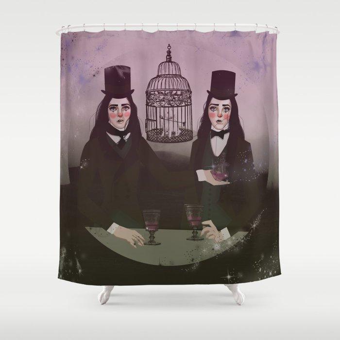 NO FRILL TWINS/MAGIC Shower Curtain