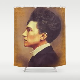 Ezra Pound, Literary Legend Shower Curtain