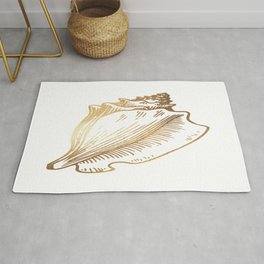 Gold Conch Shell Rug