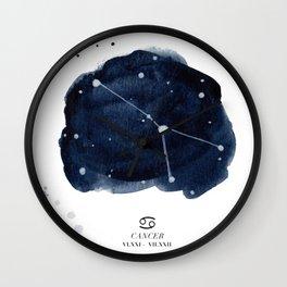 Zodiac Star Constellation - Cancer Wall Clock