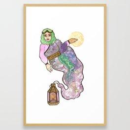 Genie Witch Framed Art Print