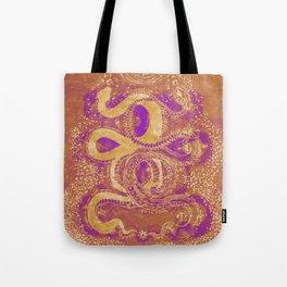Snake Destiny (Golden Colors) Tote Bag