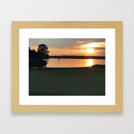 11 at Sunset Framed Art Print