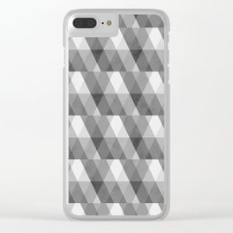 Grey Geometric Distressed Pattern Clear iPhone Case