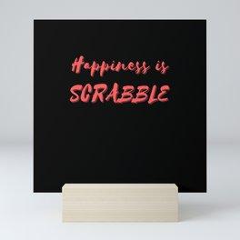 Happiness is Scrabble Mini Art Print