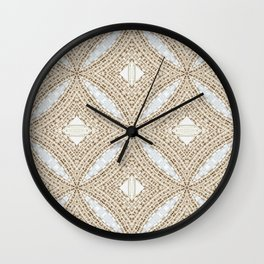 Country Cottage Inspired Wood Pattern Design Wall Clock