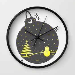 Christmas inside a sphere Wall Clock