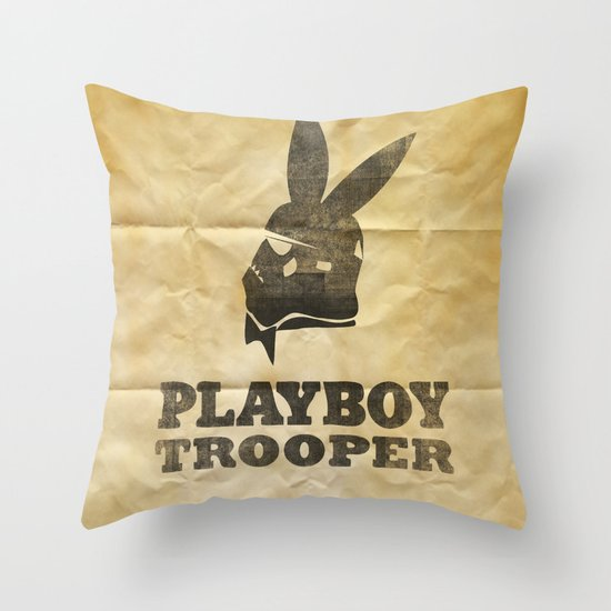 playboy trooper  Throw Pillow